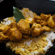 Stock Photo: Chicken curry with rice