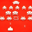 Sugar Space Invaders — Stock Photo