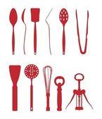 Kitchen equipments — Stock Vector