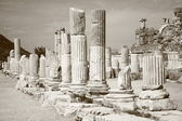 Ancient columns from Efesus — Stock Photo