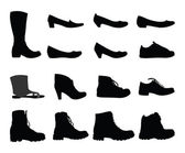 Shoes silhouettes — Stock Vector