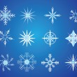 Snowflake icons — Stock Vector #9647366