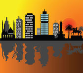 City silhouette — Stock Vector