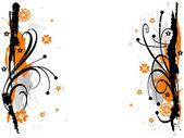 Grunge decorative floral frame. element for design, vector illustration — Stock Vector