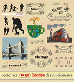 English set of vector design elements. — Stock Vector