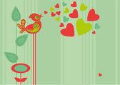 Bird heart — Stock Vector