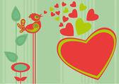 鸟的心 — 图库矢量图片