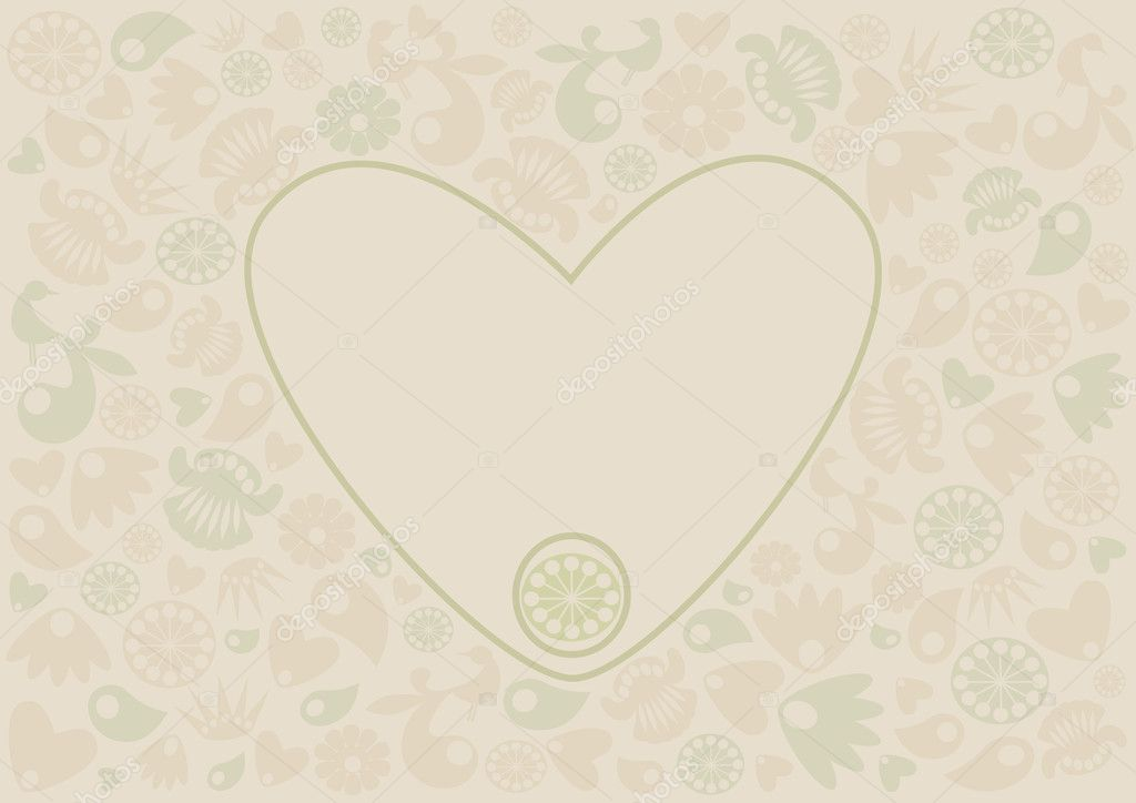 Paper,  flat, heart patterns — Stock Vector #9477026