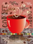 Kahve etiketi — Stok Vektör