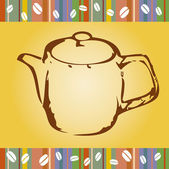 Coffee pot — Vetorial Stock
