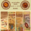 A set of coffee label — Stock Vector #9614212