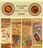 A set of coffee label — Stock Vector