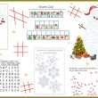 Stock Vector: Activity Table Placemat - Christmas 5