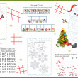 Activity Table Placemat - Christmas 5 - Stock Vector