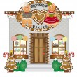 Royalty-Free Stock Vector Image: Gingerbread Village Bakery