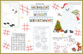 Placemat Christmas Printable Activity Sheet 5 — Stock Vector