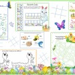 Placemat Easter Printable Activity Sheet 5 — Stock Vector #9641875