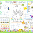 Placemat Easter Printable Activity Sheet 4 — Stock Vector #9643191