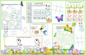 Placemat Easter Printable Activity Sheet 5 — Stock Vector