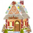 Gingerbread Village Candy Shoppe — Stock Vector #9706147