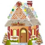 Gingerbread Village Candy Shoppe — Stock Vector