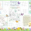 Placemat Easter Printable Activity Sheet 3 — Stock Vector #9768430