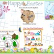 Activity Table Placemat - Easter 6 — Imagen vectorial