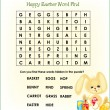 Easter Word Search 1 (easy) — Stock Vector