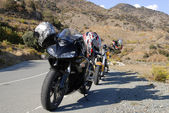 Motorcycles in mountains — Stock Photo