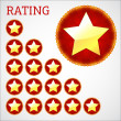 Stars rating — Stock Vector