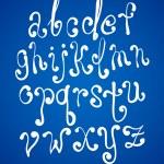 Art sketching set of vector font symbols — Stock Vector #10652240