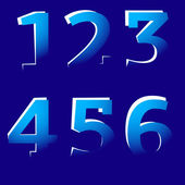 Cut-Off Numbers — Stock Vector