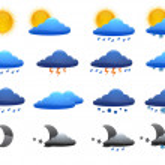 Weather Set — Stock Vector