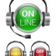 Vector call-center buttons - Stock Vector