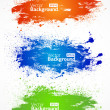Vector colorful grunge banners. — Stock Vector #9789253