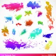 Colorful splashes - Stock Vector