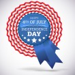Royalty-Free Stock Vektorfiler: Independence day badge vector