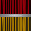 Vector de stock : Red and Gold Vector Curtain