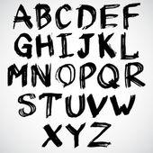 Alphabet manuscrites grunge — Vecteur