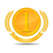 Number One Award — Stock Vector
