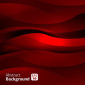Abstract red wave background — Stock Vector