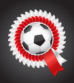 2012 サッカー ポーランド ウクライナ バッジの記号 — ストックベクタ