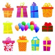 Vector gift set — Stock Vector