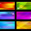 Set of colorful vector background - Stock Vector