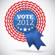 Royalty-Free Stock Vector Image: Vote 2012 USA Badge