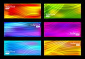 Set of colorful vector background — Stock Vector
