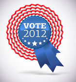 Vote 2012 USA Badge — Stock Vector