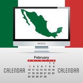 日历。与国家的地图 — Stock vektor