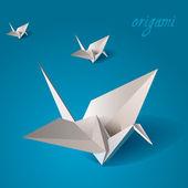 żuraw ptak origami wektor — Wektor stockowy