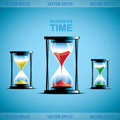 Reloj de arena. ilustración de negocios — Vector de stock